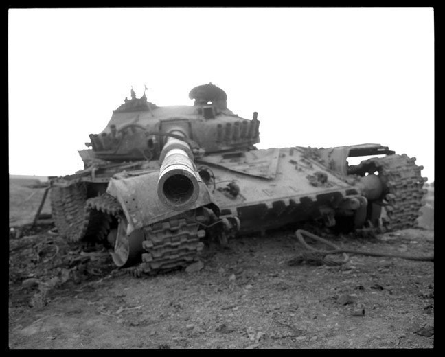 Destroyed Iraqi tank. June, 2003.