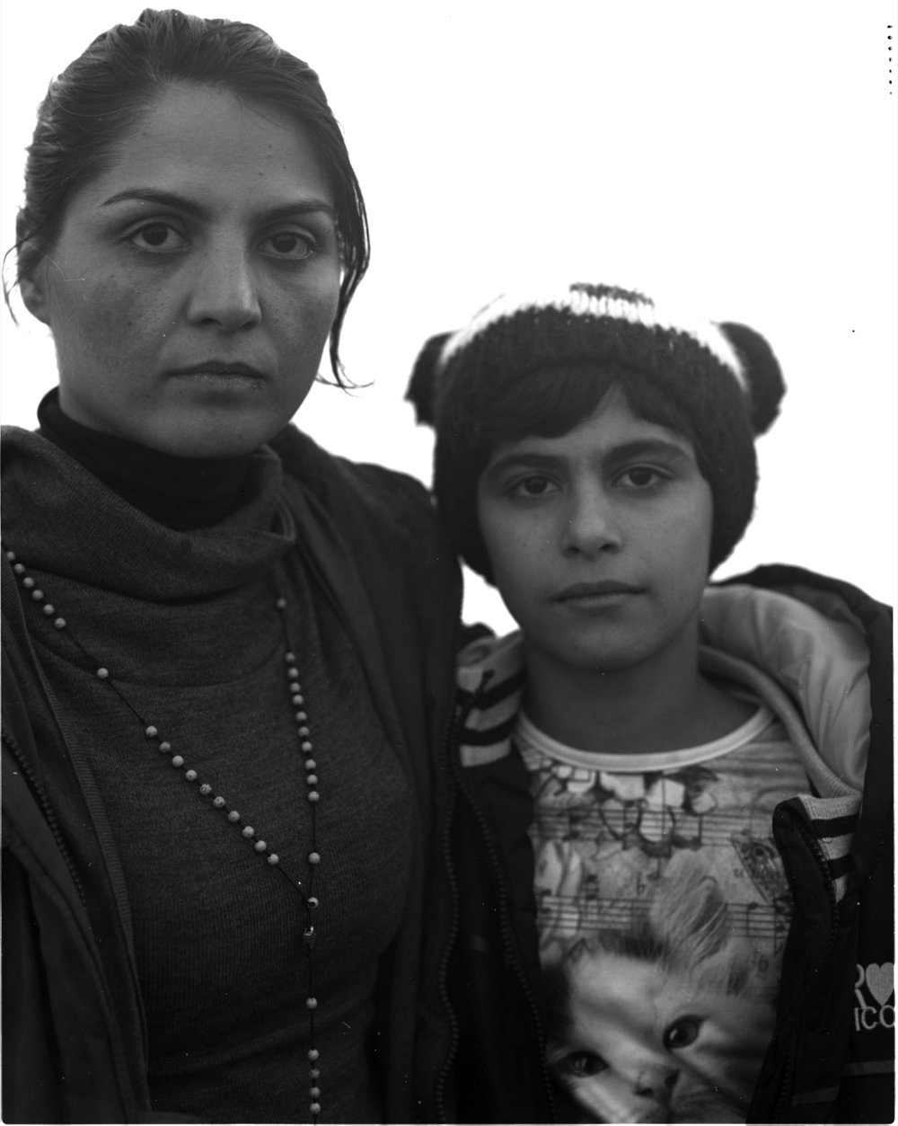 Nadia and her daughter Cassandane, from Herat, Afghanistan. Nadia was married at the age of 10 to an abusive husband. She fled Afghanistan and hopes to start a new life in Europe studying film and helping improve the situation of women in Afghanistan, particularly in stopping child marriage.