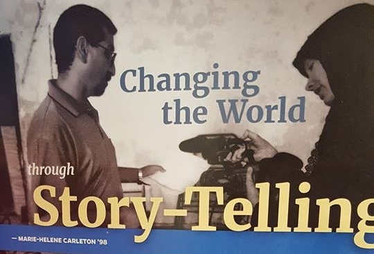 Changing the world through story-telling - Sais Magazine, Summer 2017by Marie-Hélène Carleton