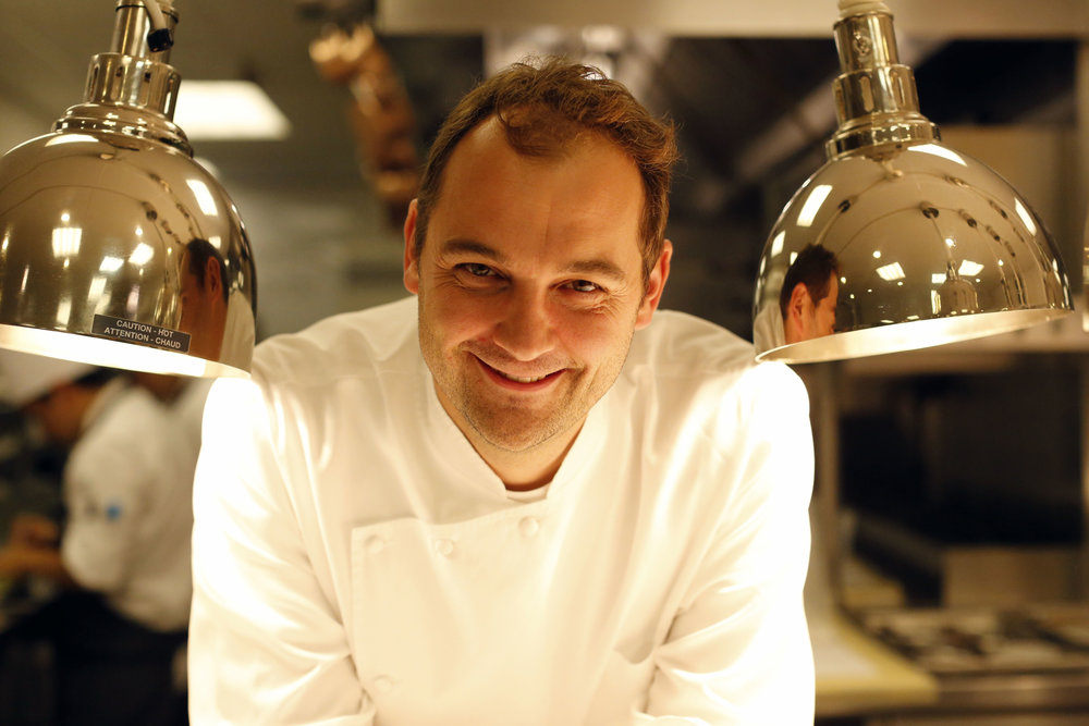 Chef Daniel Humm at Eleven Madison Park, Fall 2014.