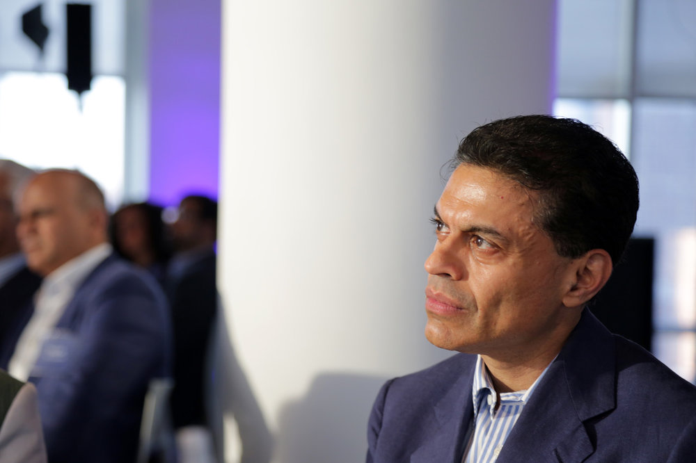 CNN's Fareed Zakaria at a McKinsey event, Summer 2018.