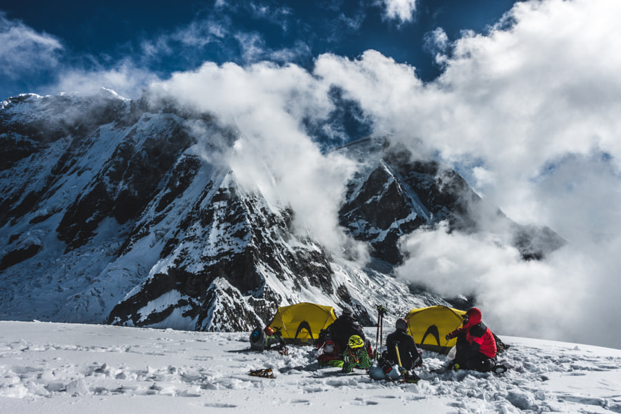 Glacier Camp at 5750m