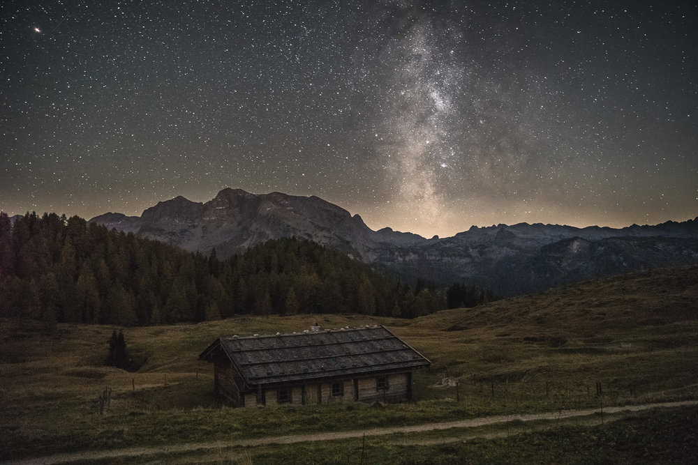 The milky way points to where we are going the next day: Kärlingerhaus.