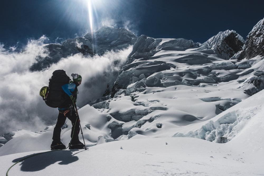 Glacier Ascent on Chopicalqui (6345m), Peru