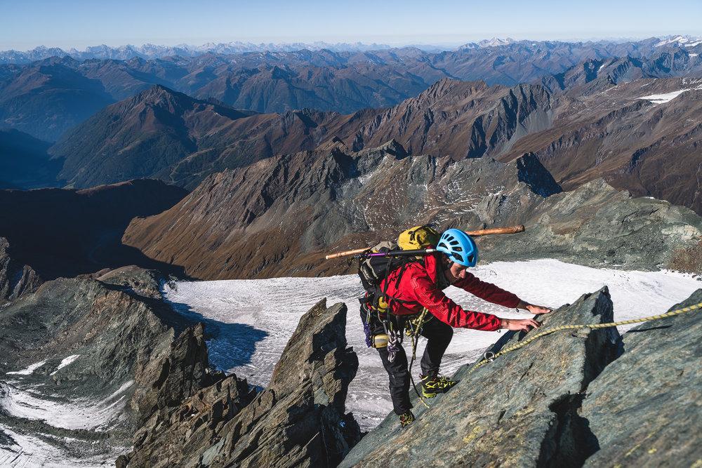 Crux on Stüdlgrat, Großglockner (3798m), Austria