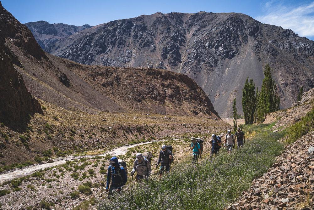 Entering Vacas Valley from Punta de Vacas