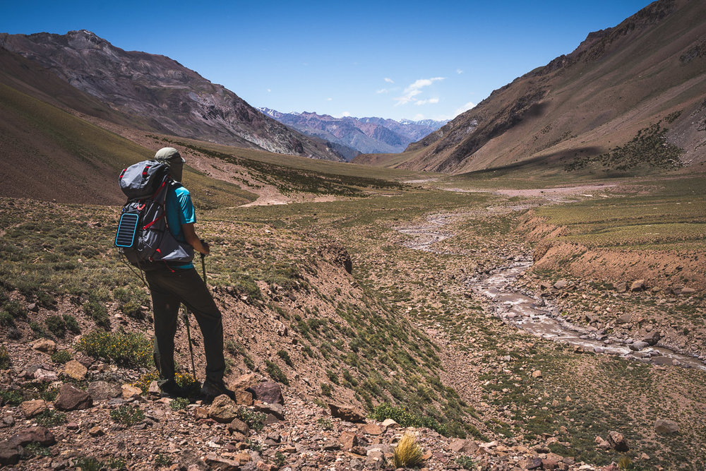 Looking back Vacas Valley after 20km