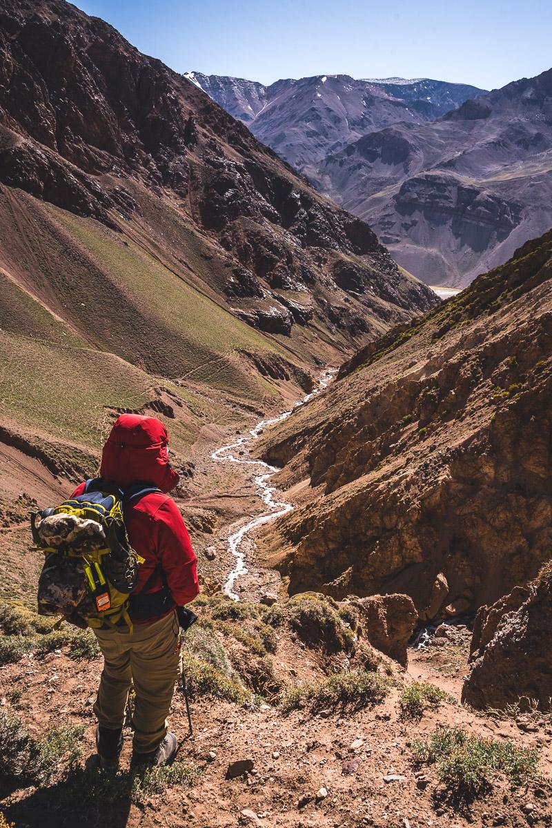Looking back towards Vacas Valley
