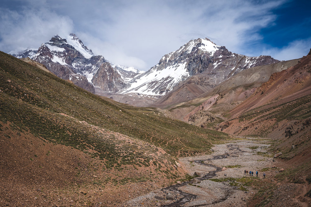 Aconcagua (on the left) getting closer