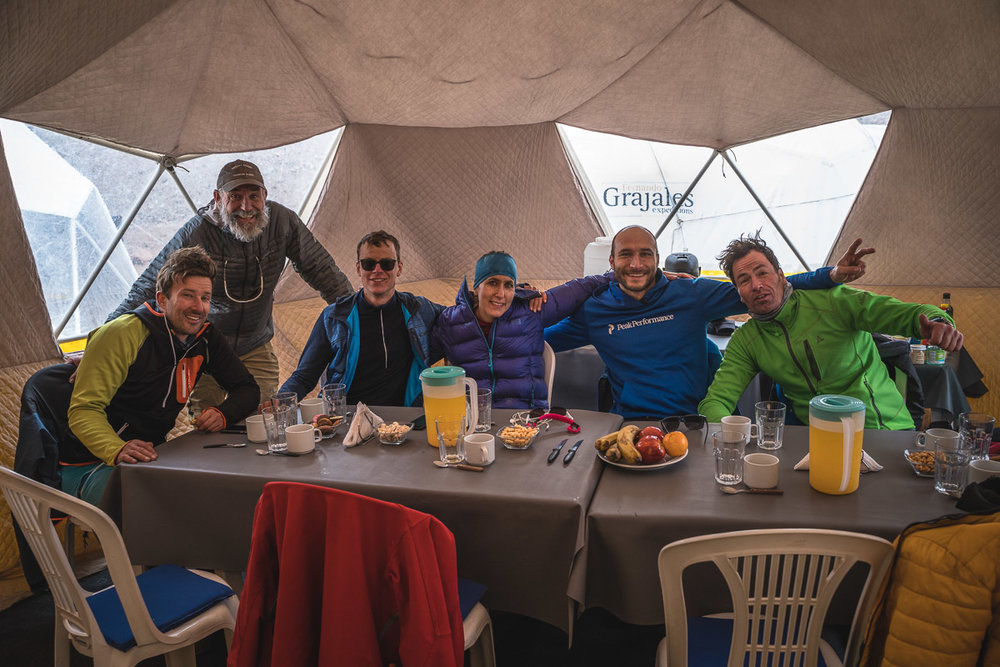 Happy to relax in our Grajales dome tent in Base Camp