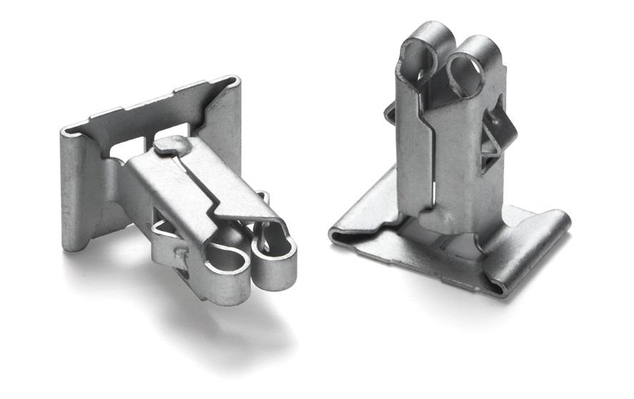 Part: Clip Materials: Carbon Steel Heat Treatment: Bainitic Hardening Coating: Delta Protekt KL100 Industry: Automotive