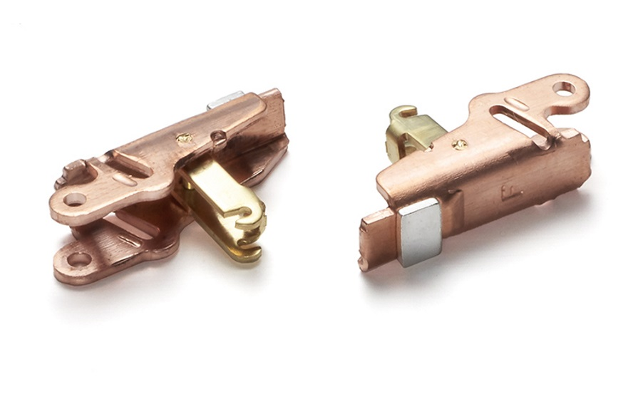 Part: Mobile Contact Materials: Copper, Brass, Silver, and Graphite Industry: Electrical