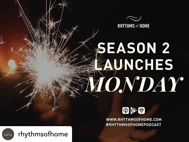 Season 2 of my podcast is launching on Monday! I'm stoked! Be sure to check out and follow @rhythmsofhome. There's a ton of great stuff on there to encourage you in your life with God!