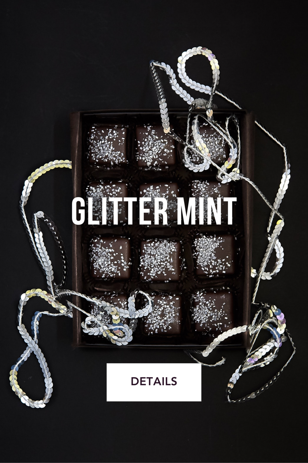 Glitter Mint Chocolates