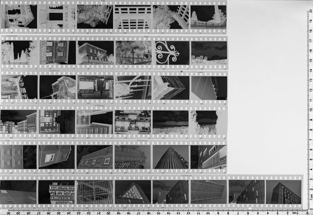 1st Ferrania P30 Alpha contact sheet