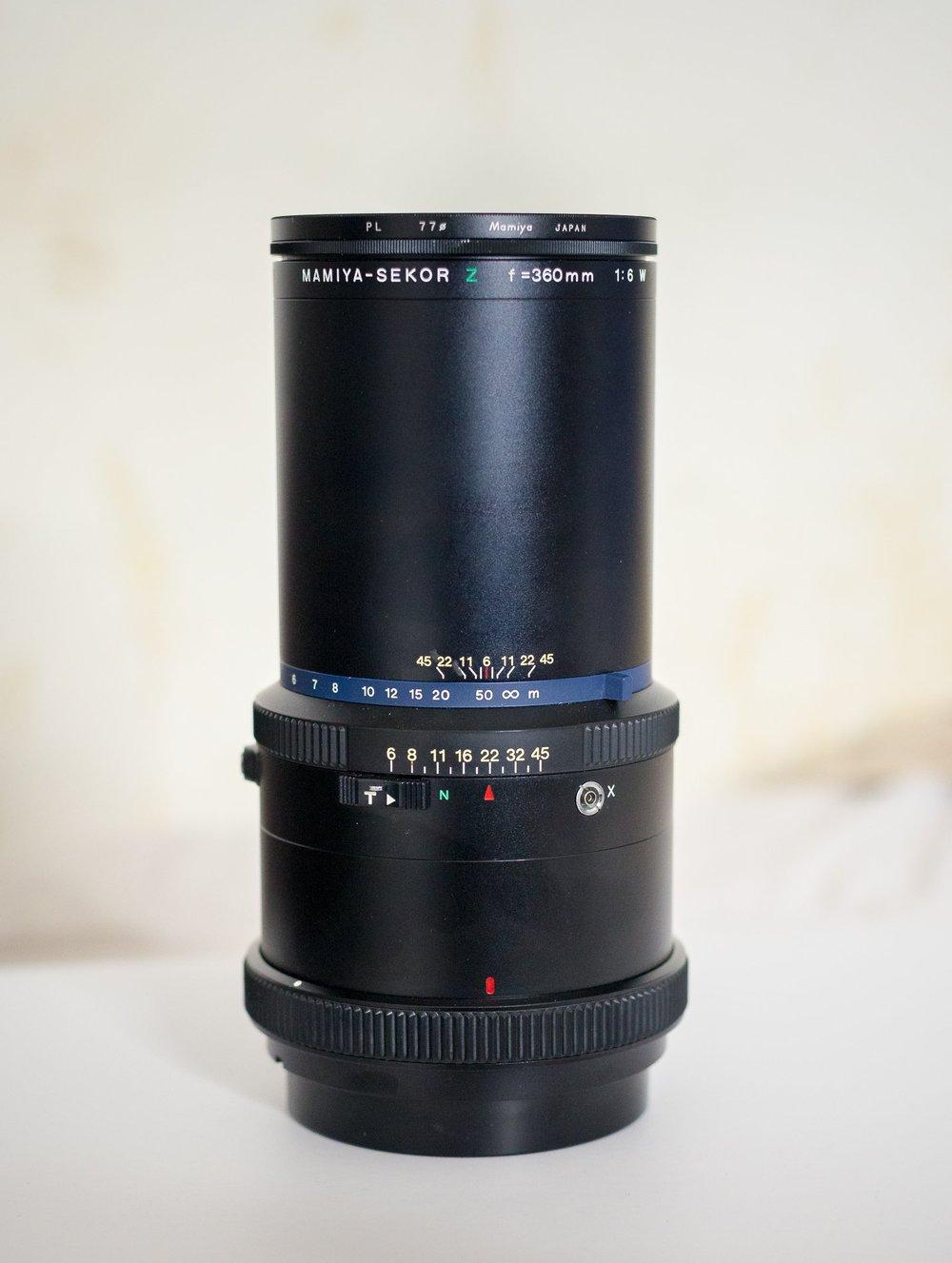 350mm f/6 W lens for Mamiya RZ67
