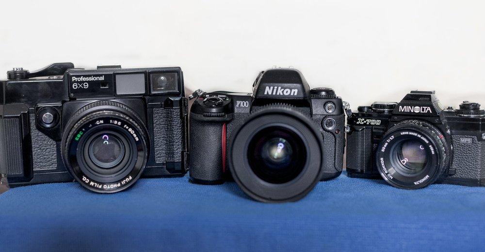 Fuji GW690 (I), Nikon F100, Minolta X-700