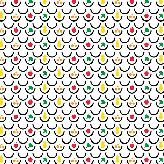 Fruity pattern for  @_mrsmile  Yummy! #sand #sandstudio #pattern #mrsmile #fruit #design #graphics