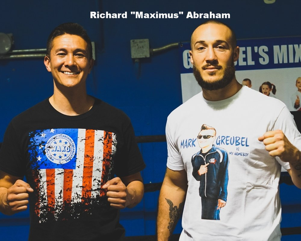 Glory kickboxing welterweight contender, Richard Abraham tells you some of the things he picked up from his time with Mark Greubel right >>>   HERE   !