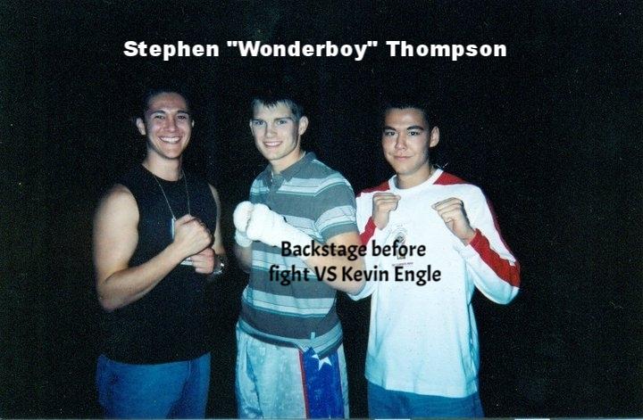 "Back stage W/ Steven ""WONDERBOY"" Thompson"