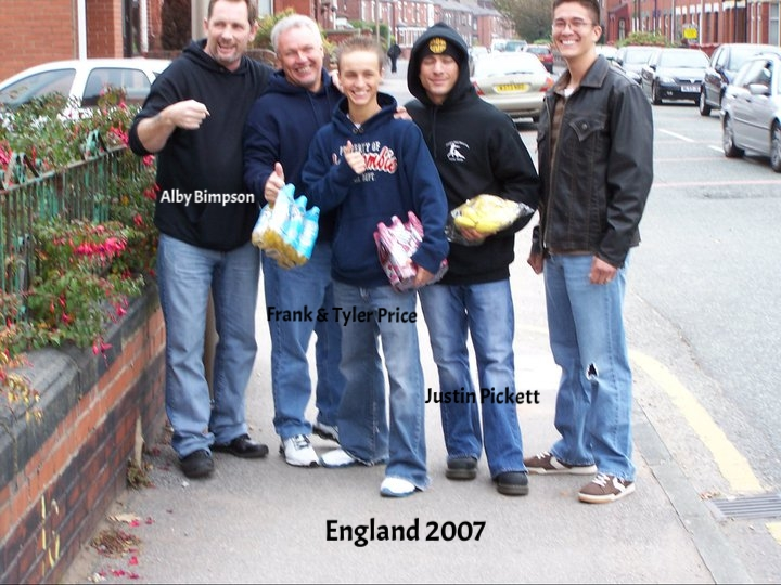 England kickboxing Justin Pickett and Tyler Price