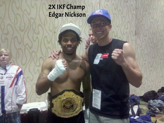 Edgar Nickson winning IKF title