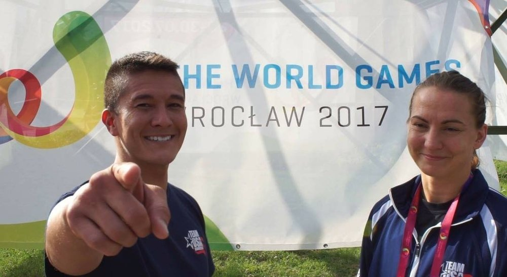 Kaitlin Young and Greubel at 2017 World Games
