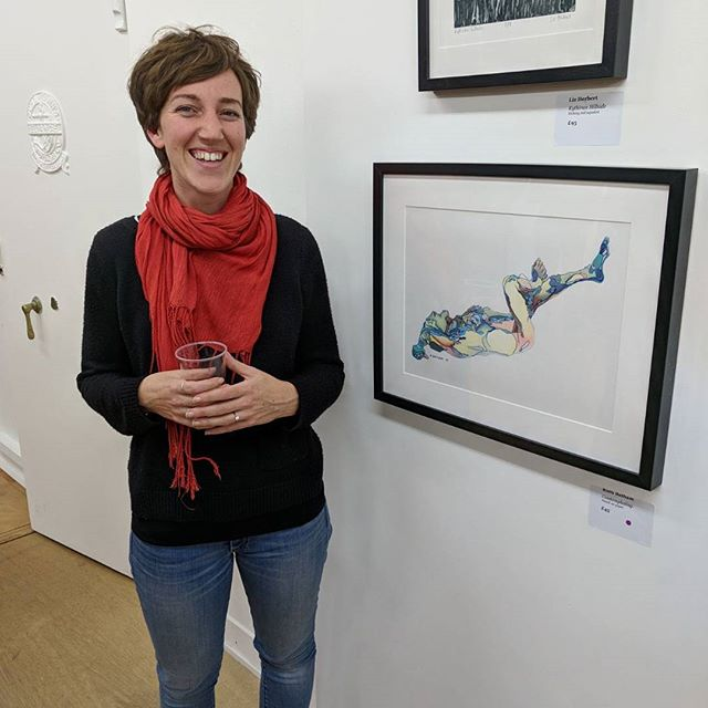 Felt really good to see my #drawing on the wall on the opening night!  Thank you to #islingtonartssociety for putting together the #show at #plygallery in #crouchendtownhall which runs until 21st November.  #afordableart #figurativeart #londonartists