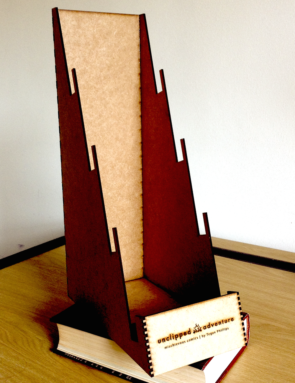 Card Display Stand - Complimentary display stand for stockists30cm deep, 13cm wide, 45cm high