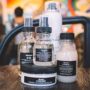 Davines hair product line in Ocean Beach.