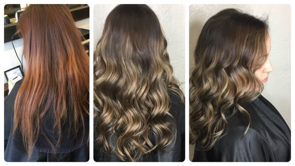 Color correction for hair that is dyed.