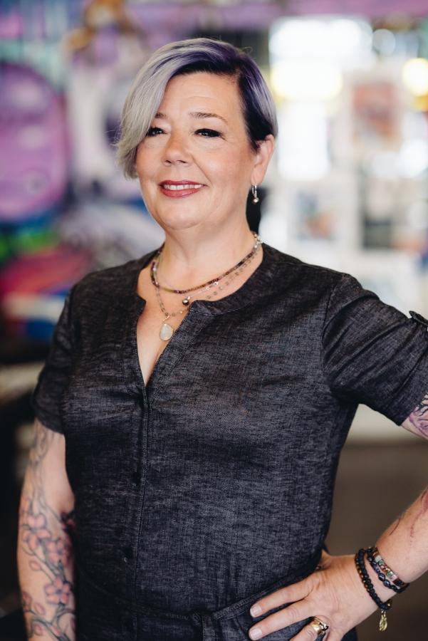 The Electric Chair hair salon stylist Marcia