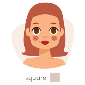 haircut for square shaped face.
