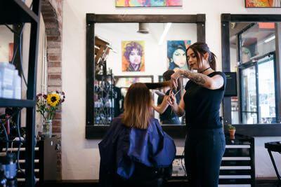 Electric Chair testimonials hair salon.