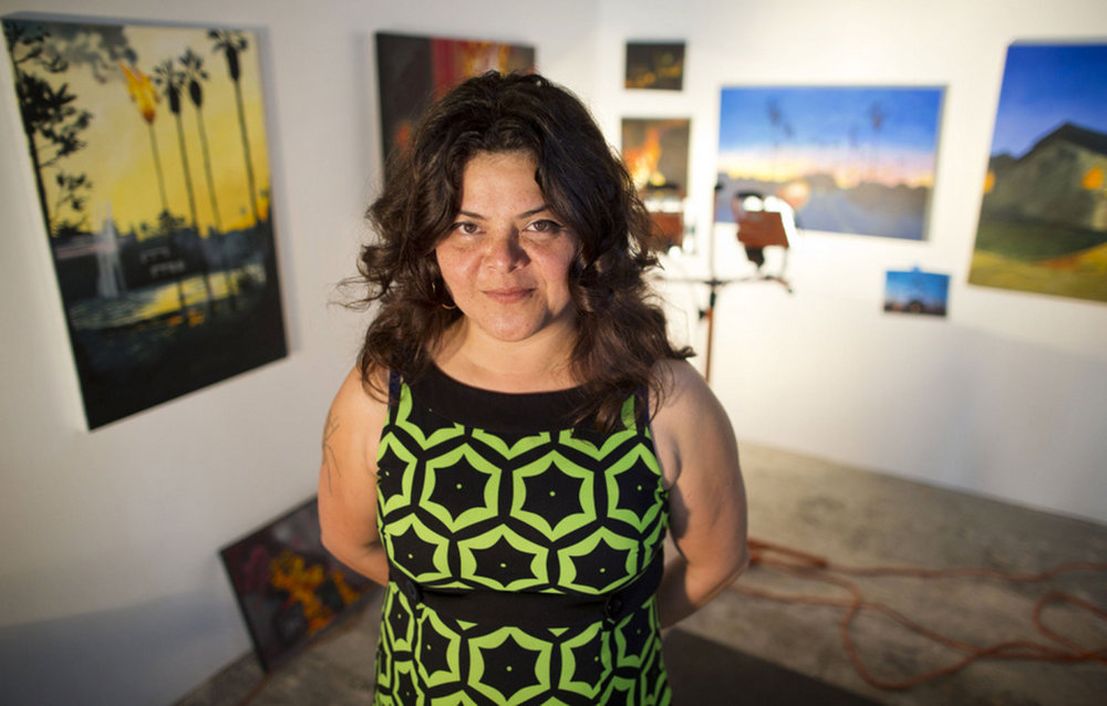 KQED - L.A. Painter Finds Inspiration in Fire & Protest