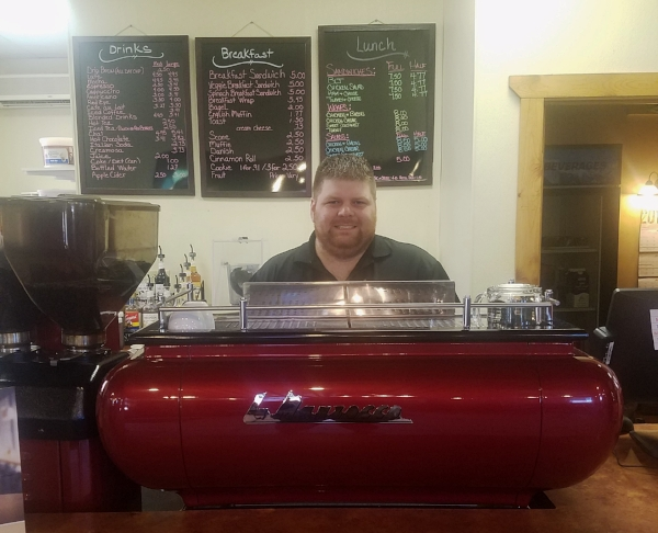 Pictured above is Charles, one of the owners of Dead Poet's Espresso.