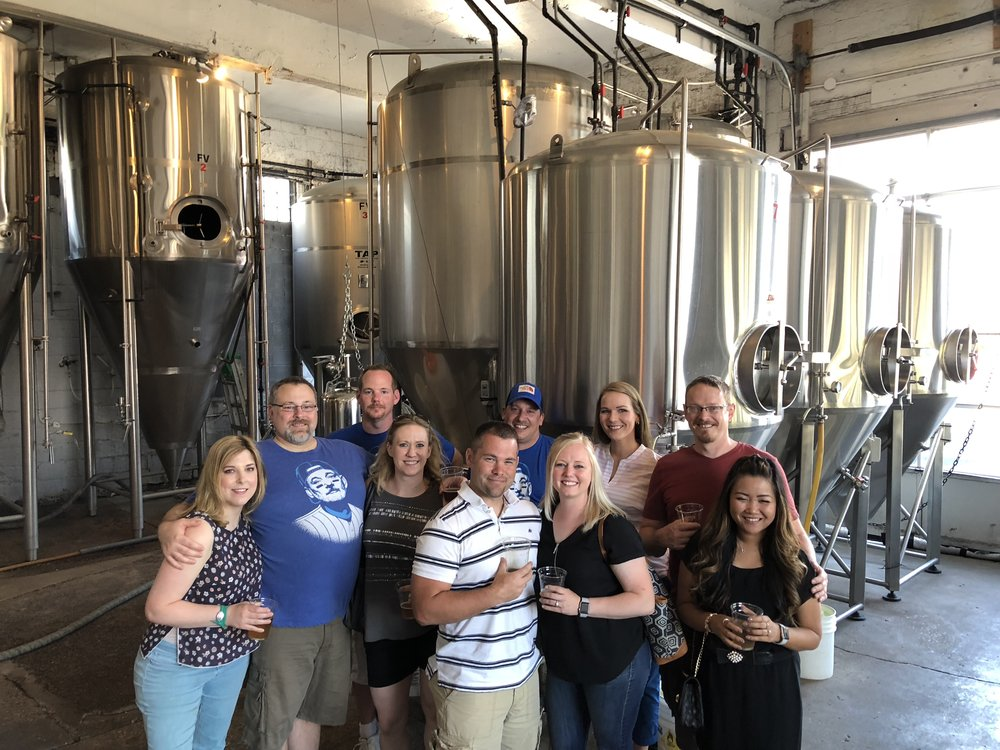 Tour Group Inside Brewery