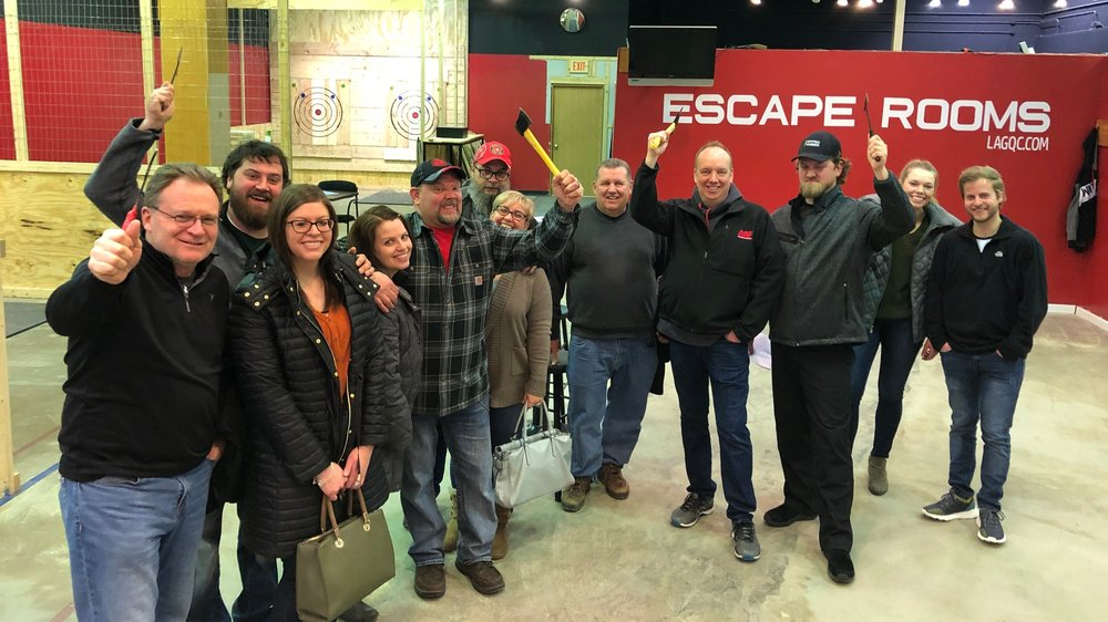 Enjoy hatchet throwing at Live Action Games before heading to breweries in Davenport, Bettendorf, and Rock Island