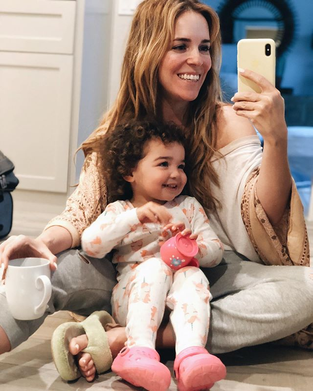 Just a couple of gals enjoying a Saturday cup of coffee. ☕️ Also, a shout out to all of you working parents out there who are exhausted this morning after a long week— the fact that you give 100% at work to provide for these babies and then find the energy to show up well at home is a testimony for how much you love your family. I don't believe in mommy guilt. I don't believe in daddy guilt. Having a job that supports your family is something to be grateful for, not something to feel shame about. You gave heart and energy at work all week, make sure you bring that same heart and energy in how you show up for the most important part of your life. . #madeformore #workingmom #workingmoms #workingmum