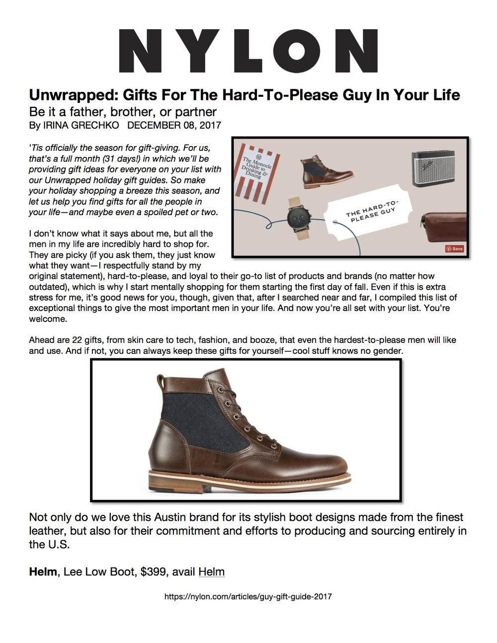 Helm nylon gift guide for the hard to please guy di moda pr solutioingenieria Choice Image