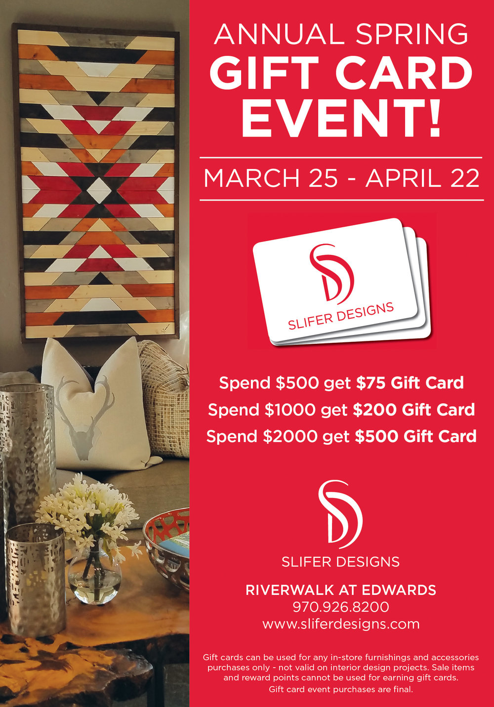Copy of Slifer Designs Gift Card Event