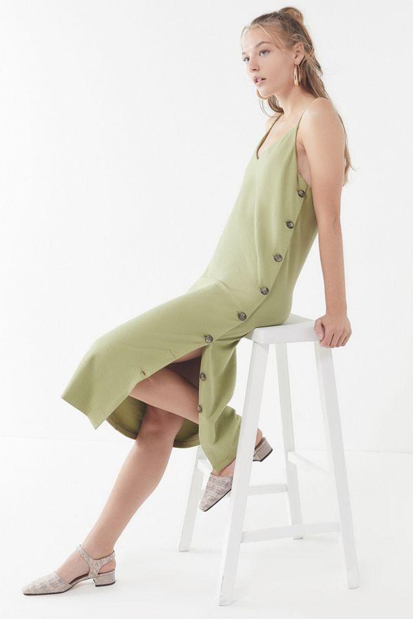 UO Monica Side-Button Slip Dress $69
