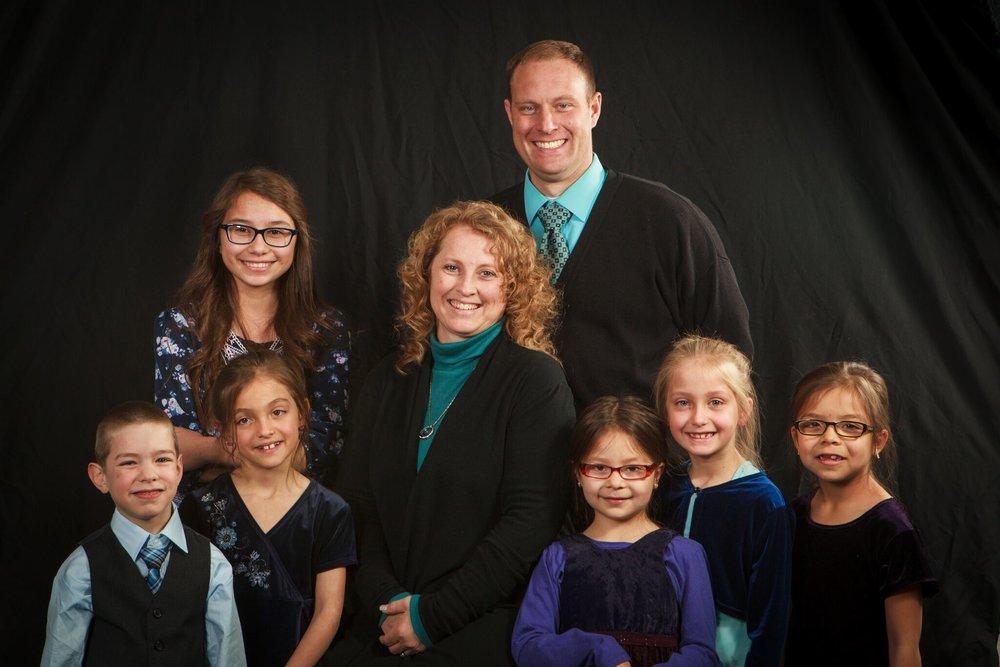 Pastor Chad, Windi, Jasmin, Jerome, Isabel, Shaily, Meadow, Taleah Hesler   Senior Pastor