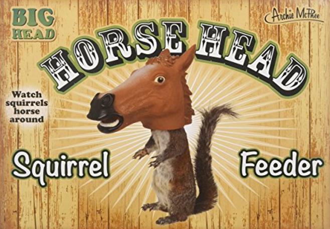 Horse Head Squirrel Feeder ($16.22)