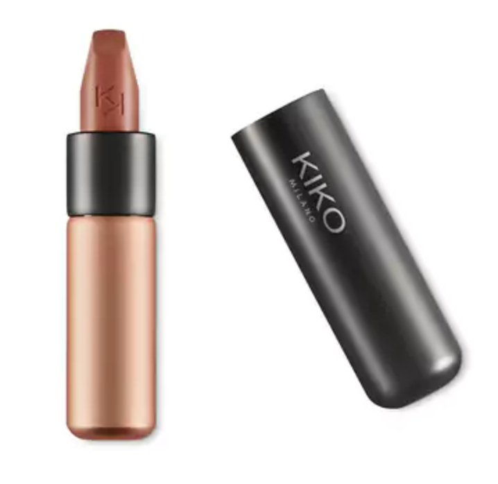 KIKO Velvet Passion Matte Lipstick - The name of this lipstick says it all. The velvety texture leaves your lips feeling fully hydrated, plumped, and crack-free.