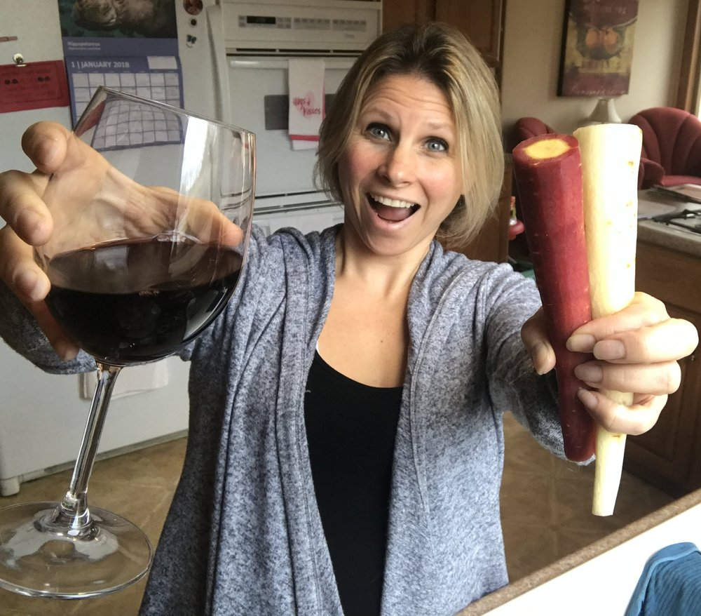 Shoot Me A Line And You'll Make Me As Happy As Veggies and Wine!!!
