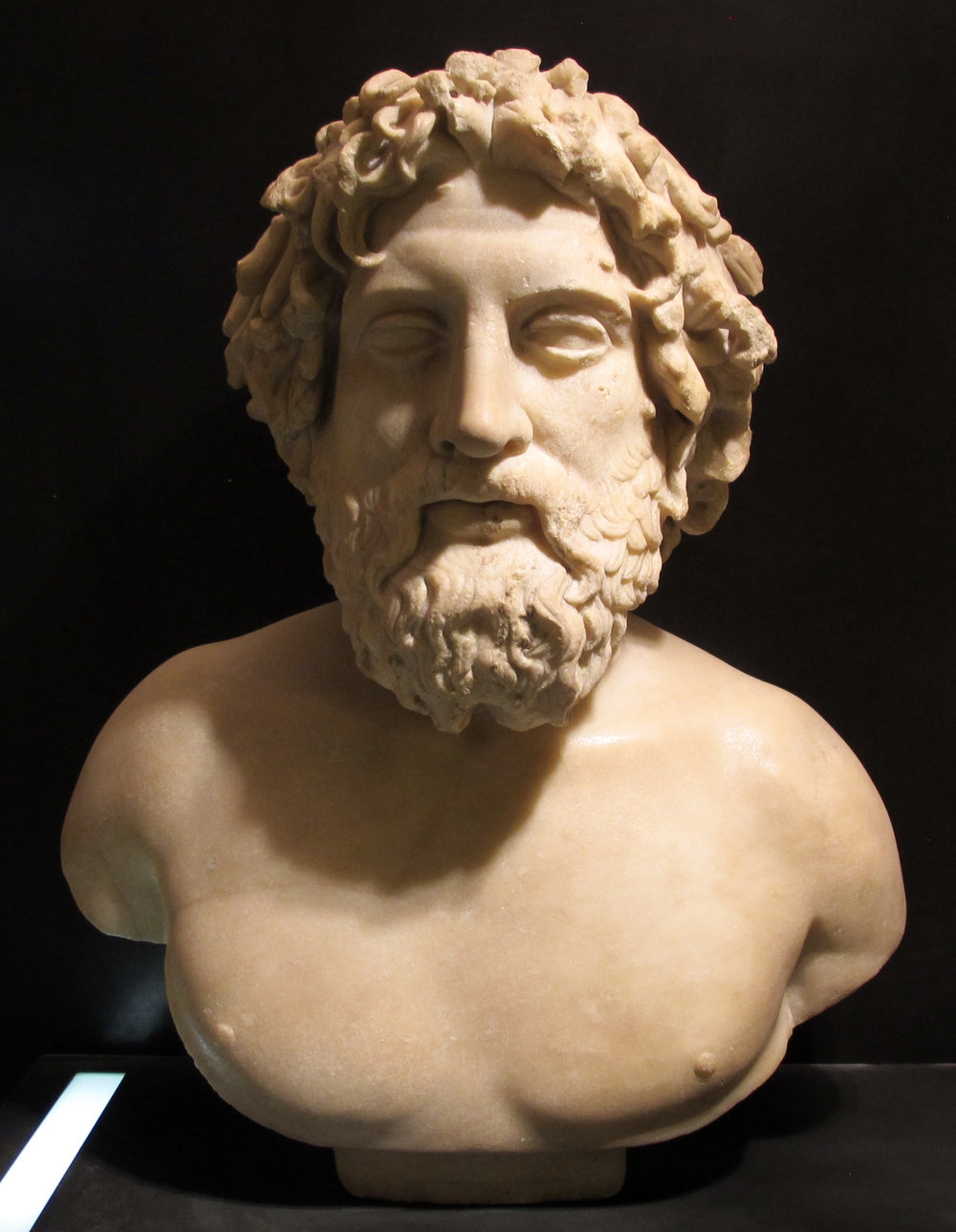 Bust of Asclepius, Museo dei Marmi, Florence, Italy