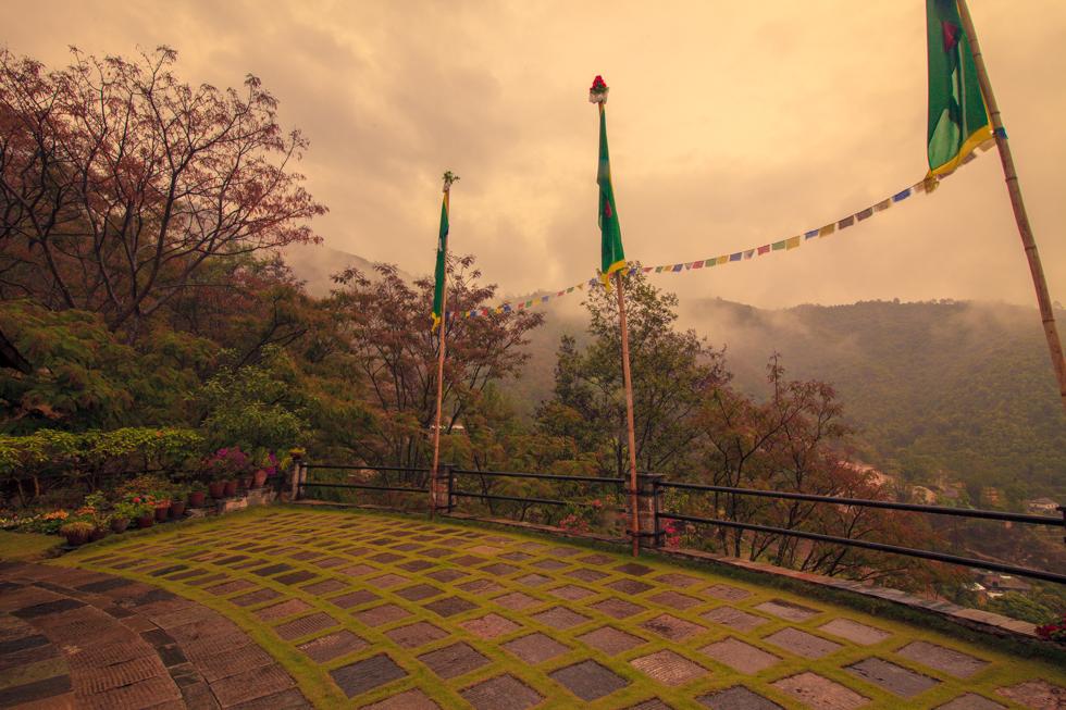 budhanilkantha nepal mountain fog