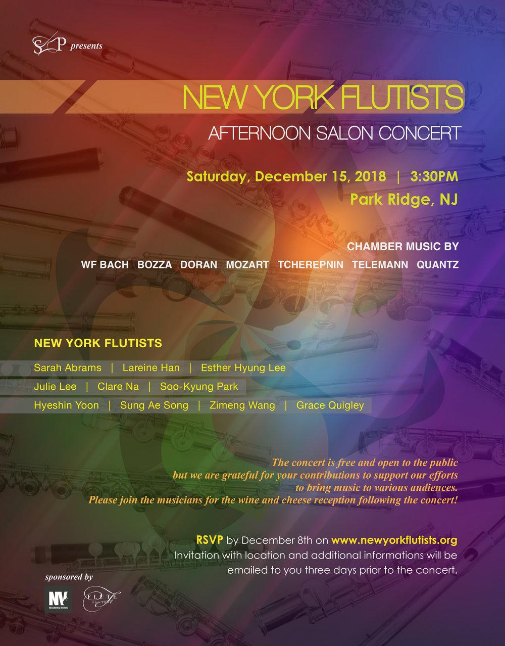 New York Flutists Afternoon Salon Concert