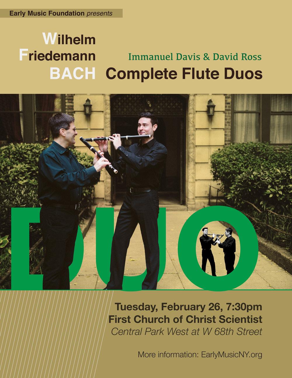 Wilhelm Friedmann Bach - Complete Flute Duos